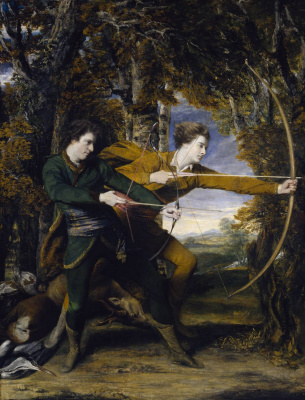 Joshua Reynolds. Archers. Colonel Ackland and Diplomat Lord Sidney