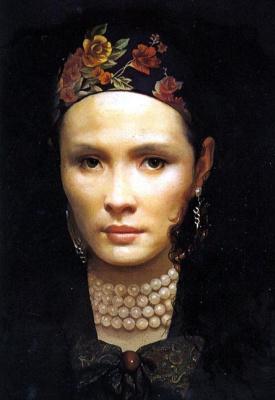 Ван Юкуи. Женщина с бусами