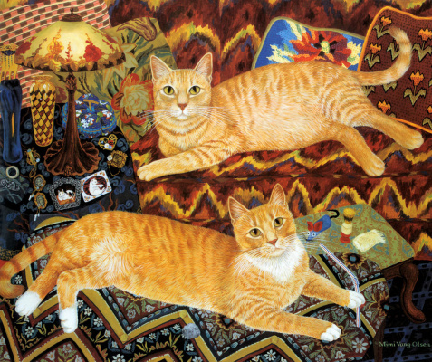 Мими Ванг Олсен. Рыжие коты