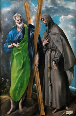 Domenico Theotokopoulos (El Greco). Saints Andrew and Francis