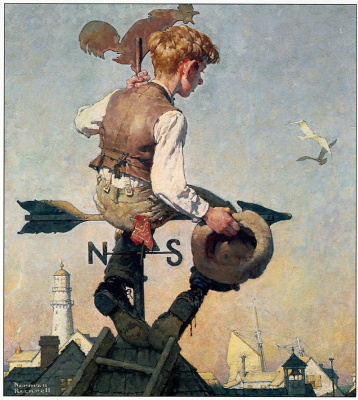 Norman Rockwell. On top of the world