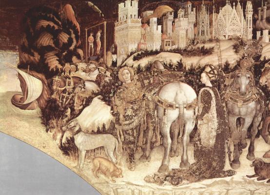 Антонио Пизанелло. Фрески из церкви Сант' Анастазья в Вероне. Св. Георгий и принцесса