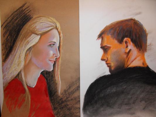 Егор Тагинцев. Автопортрет с супругой