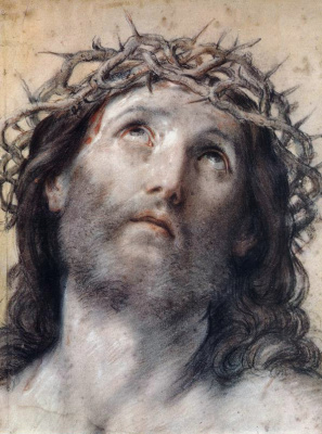 Guido Reni. The image of Christ wearing the crown of thorns
