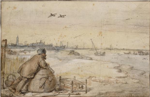 Hendrik Avercamp. Hunter on ducks