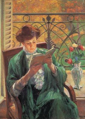 Ямашита Шинтаро. Читающая женщина
