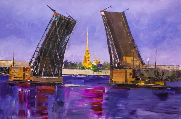 "Jose Rodriguez. ""Bridges of St. Petersburg N3"""