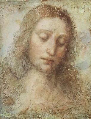 Леонардо да Винчи. Голова Христа (этюд к Тайной вечере)
