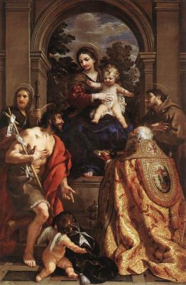 Пьетро Да Кортона. Мадонна со святыми