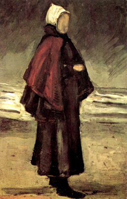 The fisherman's wife on the shore