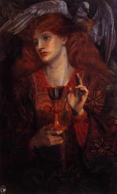 Edward Coley Burne-Jones. Virgin of the Holy Grail