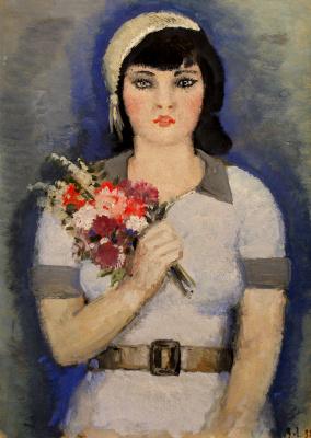 Владимир Васильевич Лебедев. Девушка с букетом
