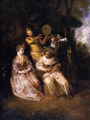 Antoine Watteau. Italian Serenade