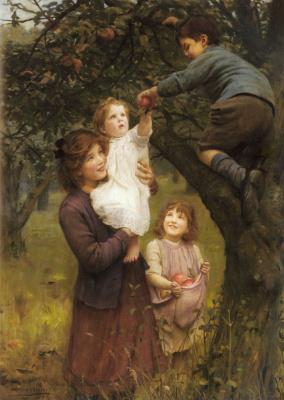 Джон Артур. Сбор яблок