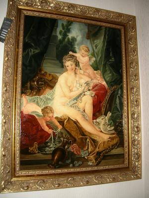 "Александра Демидова. Копия картины Франсуа Буше ""Туалет Венеры"", кракелюр."