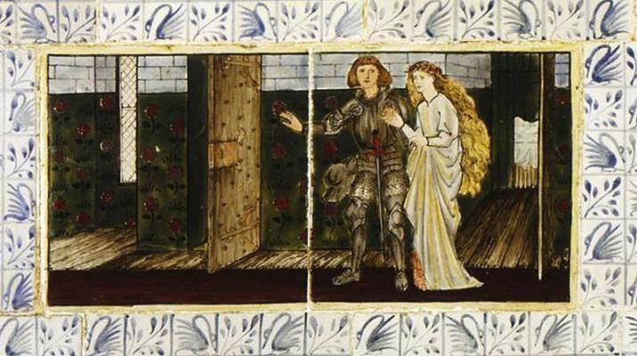 William Morris. Sleeping Beauty (Together with Edward Burne-Jones). Panel 7