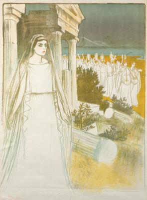 Theophile-Alexander Steinlen. Greek goddess