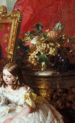 Franz Xaver Winterhalter. Portrait of the Royal family in 1846. Fragment II