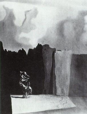 Salvador Dali. The Western side of the island of the Dead
