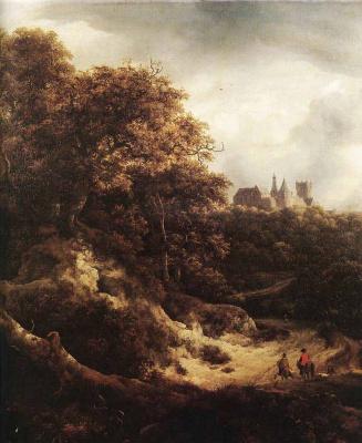 Jakob van Isaacs Ruisdael. Landscape with castle Bentheim away