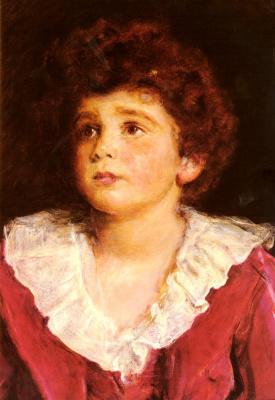 John Everett Millais. The honourable John nevile in red. Fragment