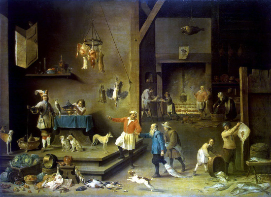 David Teniers the Younger. Kitchen