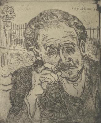 Vincent van Gogh. Man with pipe (Portrait of Dr. Gachet)