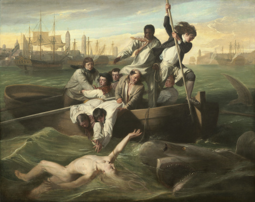 John Singleton Copley. Watson and the shark
