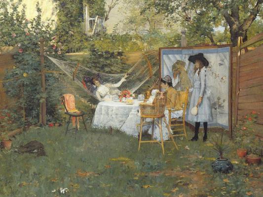 William Merritt Chase. Breakfast under the open sky