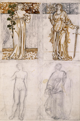 William Morris. Four female images