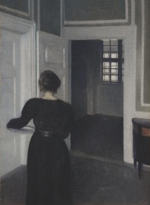 Vilhelm Hammershøi. Ida in the interior