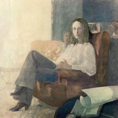 Адольфо Эстрада. Девушка в кресле