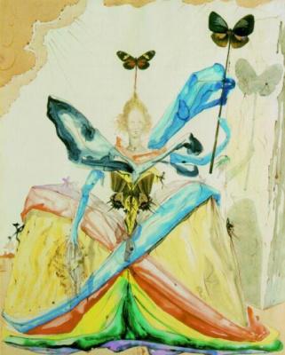 Salvador Dali. Queen of butterflies