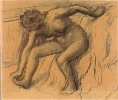 Edgar Degas. After bath