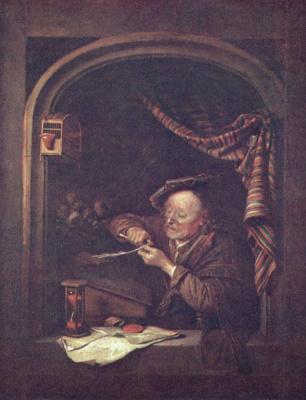 Герард Доу. Старый учитель