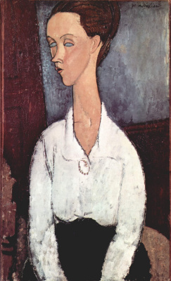 Amedeo Modigliani. Portrait of Chekhov Lunii in white blouse
