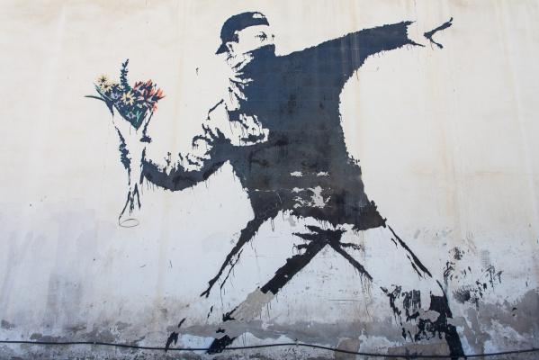Banksy. Rage (Flower Finder)