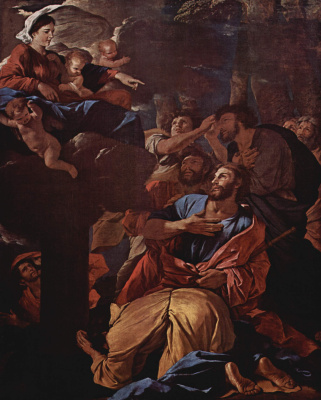 Nicola Poussin. The Apparition Of The Virgin Mary Jacob