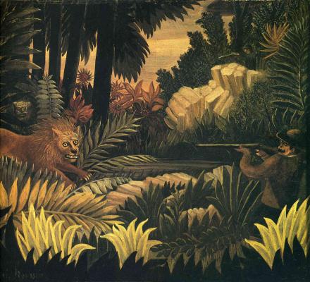 Henri Rousseau. A hunter of lions