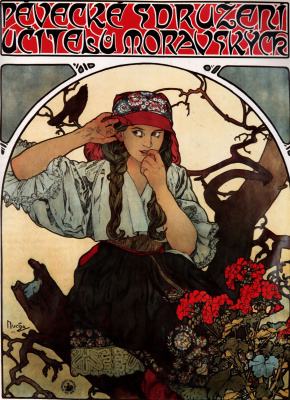 Alfons Mucha. Choral society of Moravian teachers
