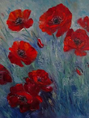 Victoria Fedorovna Humanenko. Evening poppies