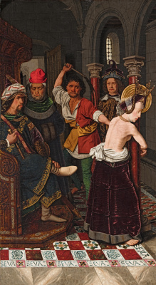 Bartolomé Bermejo. Flagellation of Saint Engracia