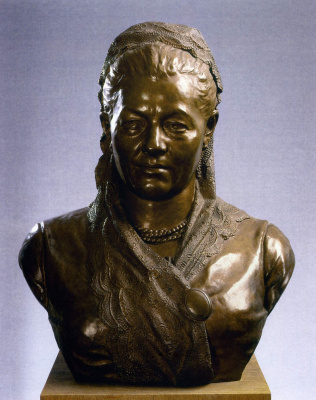 Марк Матвеевич Антокольский. Портрет пожилой женщины