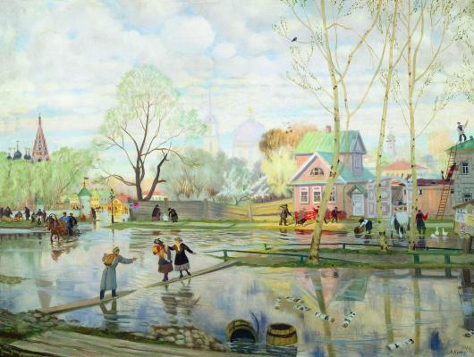 Boris Mikhailovich Kustodiev. Spring
