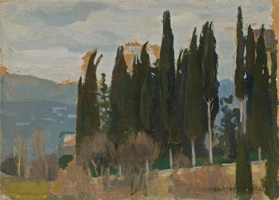 Jan Stanislavsky. Cypresses