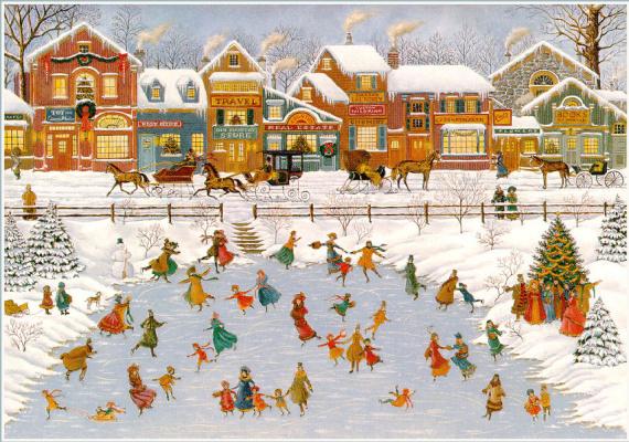Донни Картер. Снег на улице
