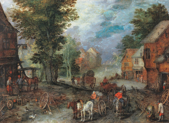 Jan Bruegel The Elder. Landscape with forge