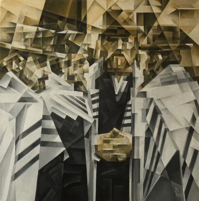 Vasily Krotkov. The Shabbat. Kubofuturizm