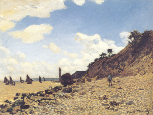 Claude Monet. The beach in Honfleur