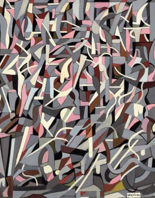 Tamara Lempicka. Abstract composition